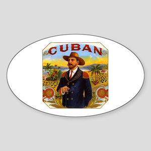 Cuba Cuban Oval Sticker