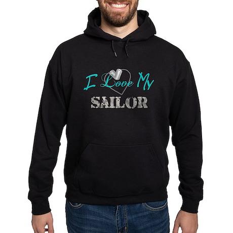 I Heart My Sailor Hoodie (dark)