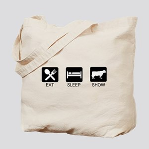 Eat, Sleep, Show (Steer) Tote Bag