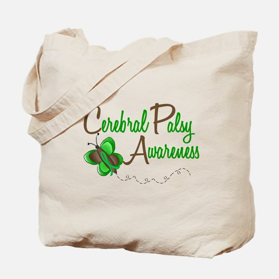 CP Awareness 1 Butterfly 2 Tote Bag
