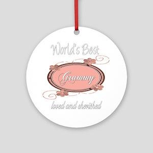 Cherished Grammy Ornament (Round)