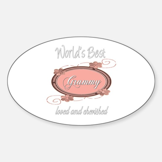 Cherished Grammy Oval Decal