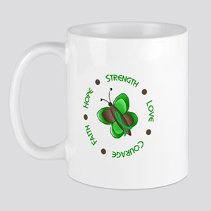 Hope Courage 1 Butterfly 2 GREEN Mug