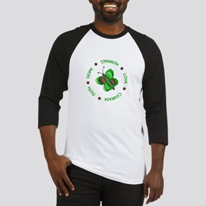 Hope Courage 1 Butterfly 2 GREEN Baseball Jersey