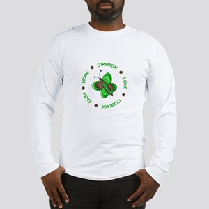 Hope Courage 1 Butterfly 2 GREEN Long Sleeve T-Shi