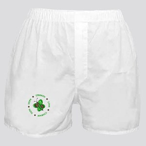 Hope Courage 1 Butterfly 2 GREEN Boxer Shorts