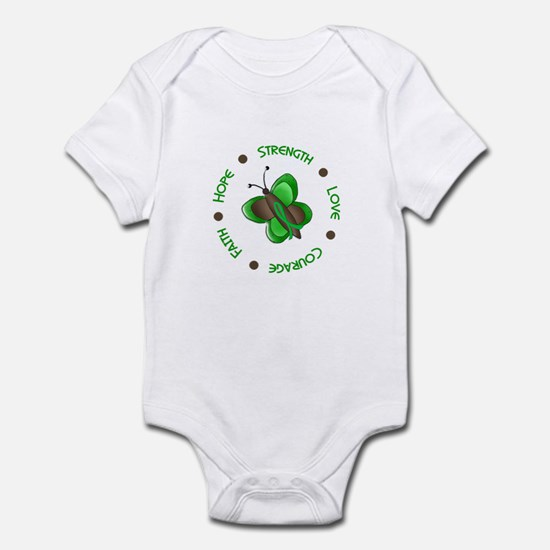 Hope Courage 1 Butterfly 2 GREEN Infant Bodysuit