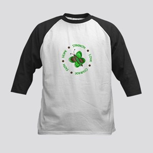 Hope Courage 1 Butterfly 2 GREEN Kids Baseball Jer