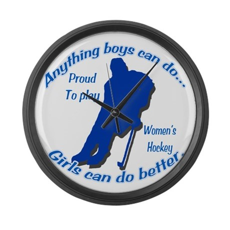 Anything Boys Can Do... Large Wall Clock