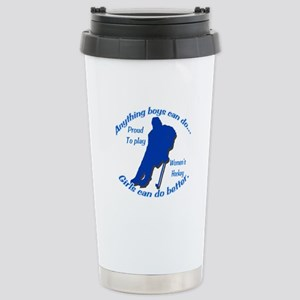 Anything Boys Can Do... Stainless Steel Travel Mug