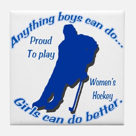 Anything Boys Can Do... Tile Coaster