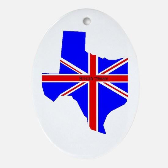 British Texan Oval Ornament