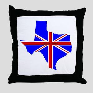 British Texan Throw Pillow