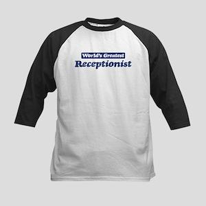 Worlds greatest Receptionist Kids Baseball Jersey
