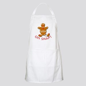 Oh Snap Cute Gingerbread Man BBQ Apron