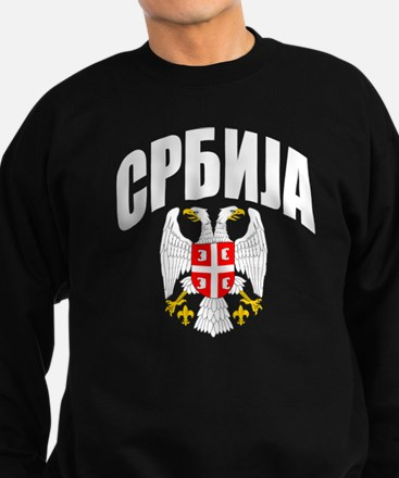 Serb Eagle Cyrillic Sweatshirt (dark)