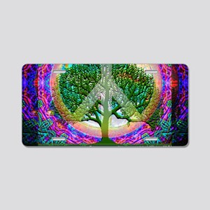 Tree of Life World Peace Aluminum License Plate