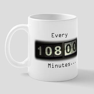 Every 108 Minutes Mug