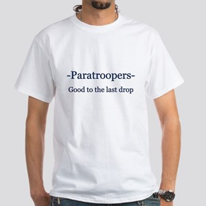 Paratrooper White T-Shirt