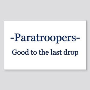 Paratrooper Rectangle Sticker
