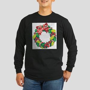 WREATH (102) Long Sleeve Dark T-Shirt