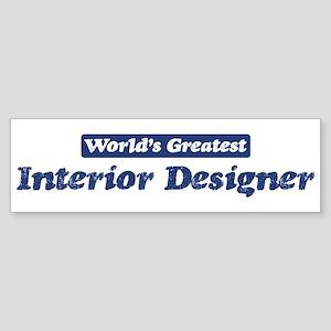 Worlds greatest Interior Desi Bumper Sticker