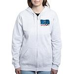 Wavy Burbank Flag Women's Zip Hoodie