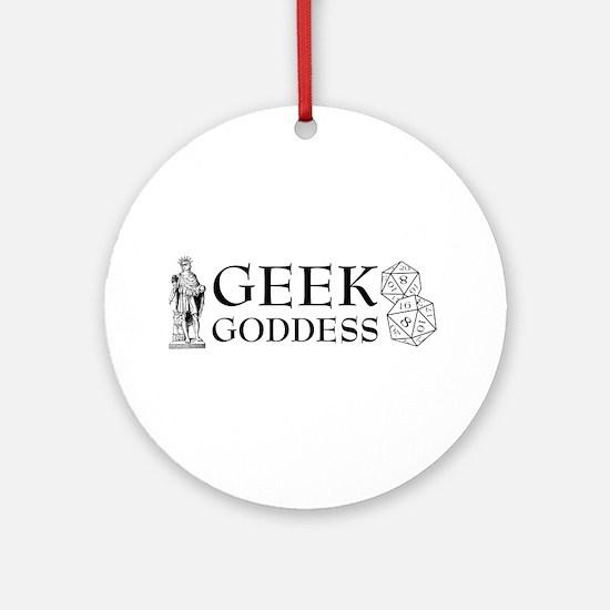 Geek Goddess Ornament (Round)
