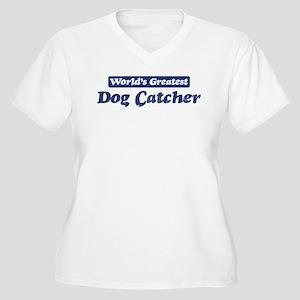 Worlds greatest Dog Catcher Women's Plus Size V-Ne