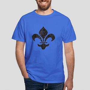 Fleur di les (Black) Dark T-Shirt