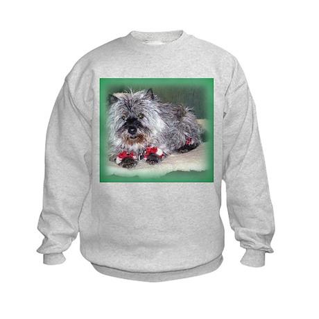 """""""Santa Claws"""" Cairn Terrier Kids Sweatshirt"""