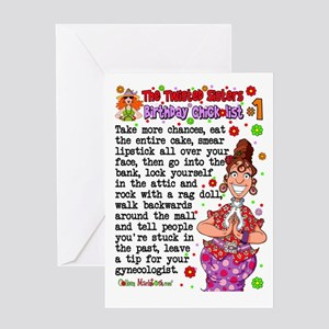 Twisted Sister Chicklist 1 Greeting Card