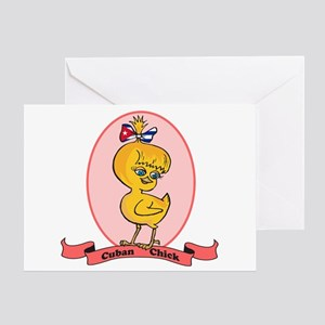 Cuban Chick Greeting Card
