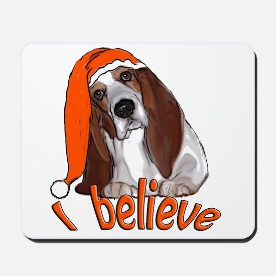 basset hound Santa Mousepad