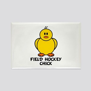 Field Hockey Chick Rectangle Magnet