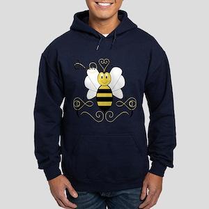 Smiling Bumble Bee Queen Bee Hoodie (dark)