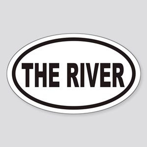 THE RIVER Euro Oval Sticker