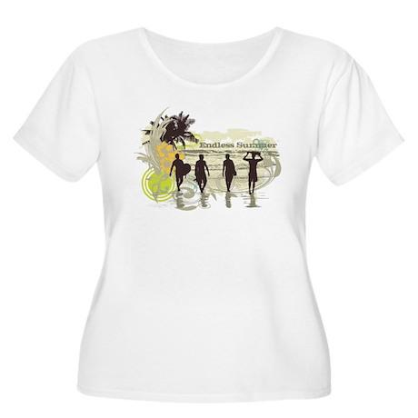 Endless Summer Women's Plus Size Scoop Neck T-Shir