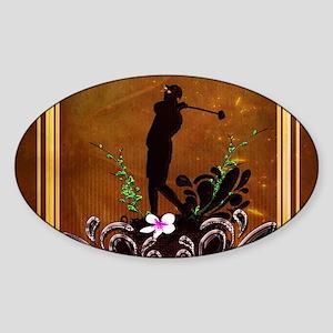 Sport, golder on decorative design Sticker