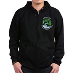 Imagine Whirled Peas Zip Hoodie (dark)