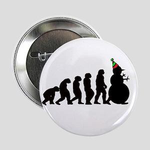 "Evolution of Snowman 2.25"" Button"