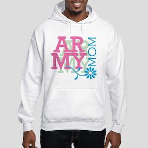 Army Mom - Pink Hooded Sweatshirt