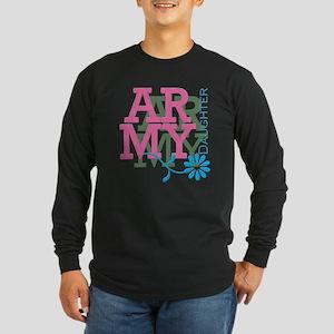 Army Daughter - Pink Long Sleeve Dark T-Shirt