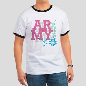 Army Grandma - Pink Ringer T