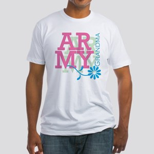 Army Grandma - Pink Fitted T-Shirt