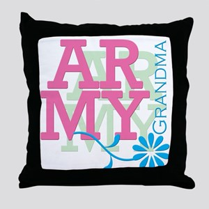 Army Grandma - Pink Throw Pillow