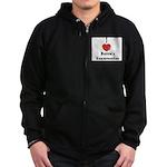 Love Bubbie's Hamentaschen Zip Hoodie (dark)