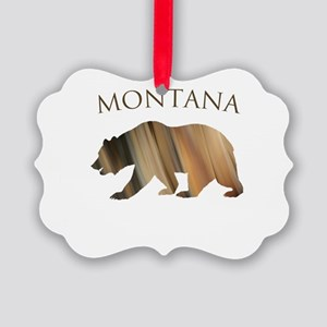 Montana Stone Bear Picture Ornament