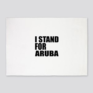 I Stand For Aruba 5'x7'Area Rug