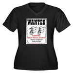 Wanted: Regulators Women's Plus Size V-Neck Dark T